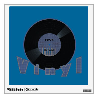 VINYL 33 RPM Record 1955 Label Wall Decal