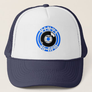 Vinyl- 45 Blue Trucker Hat