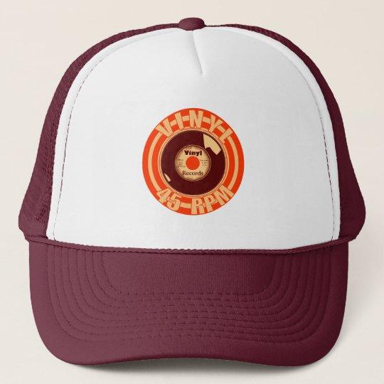 Vinyl- 45 Orange Trucker Hat