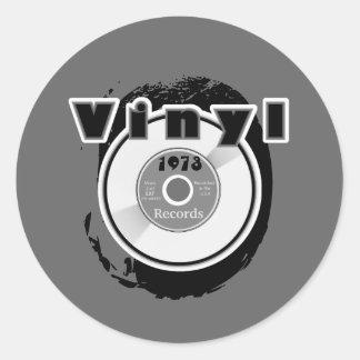 VINYL 45 RPM Record 1973 Round Sticker