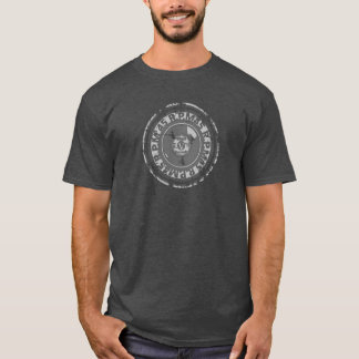 Vinyl - 45 rpm Record -Black & Grey Worn Look T-Shirt