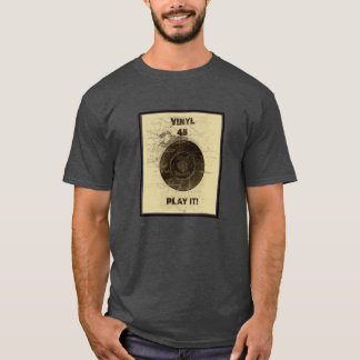 Vinyl - 45 rpm Record -Cream T-Shirt