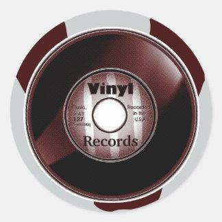 VINYL 45 RPM record, Red/White Round Sticker