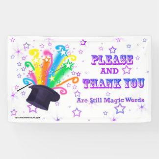 "Vinyl Bulletin Board Banner ""...MAGIC WORDS"""