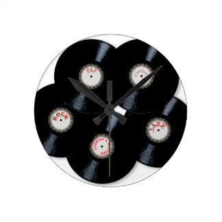 Vinyl Collection Round Clock