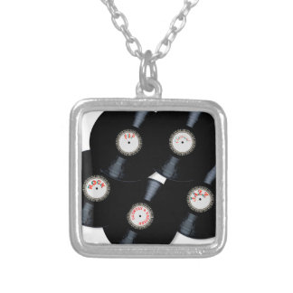 Vinyl Collection Silver Plated Necklace