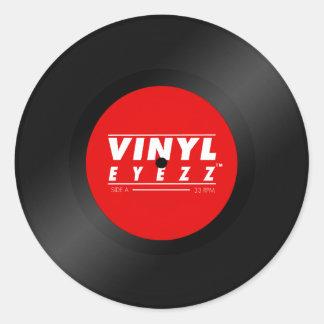 Vinyl Eyezz Sticker! Round Sticker
