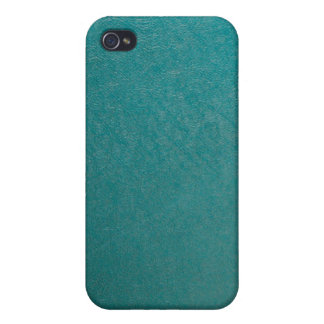 Vinyl Fabric, Turquoise iPhone 4/4S Covers