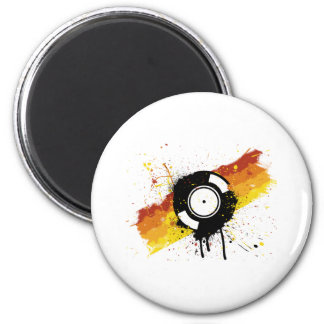 Vinyl Graffiti - DJ record DJing DJs Disc Jockey Magnet