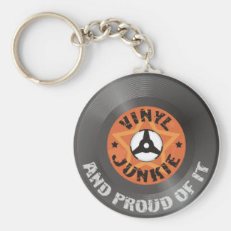 Vinyl Junkie - And Proud of It Keychain