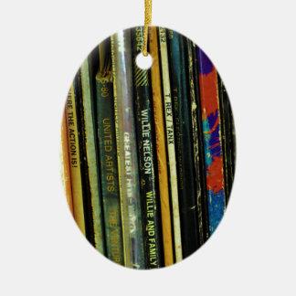 Vinyl Life 1 Ceramic Ornament