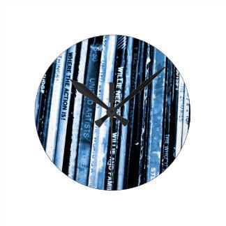Vinyl Life Round Clock