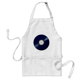 Vinyl Long Player With Keyboard Icon Standard Apron