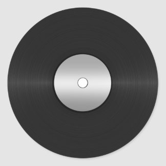 Vinyl-Look LP Record Classic Round Sticker