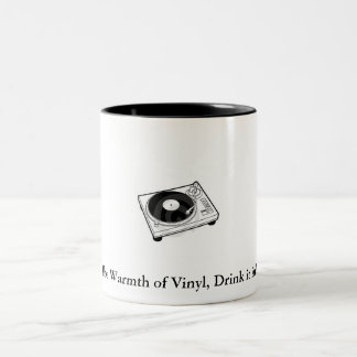 Vinyl mug. Two-Tone coffee mug
