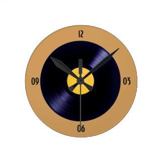 Vinyl music disc clock wall