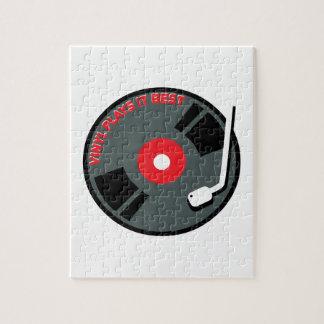 Vinyl Plays It Best Jigsaw Puzzle