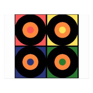 Vinyl Pop Art Postcard