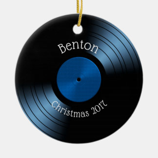 Vinyl Record Album - Retro 70s 45 Disc Ceramic Ornament