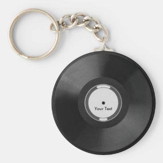 Vinyl.Record Basic Round Button Keychain