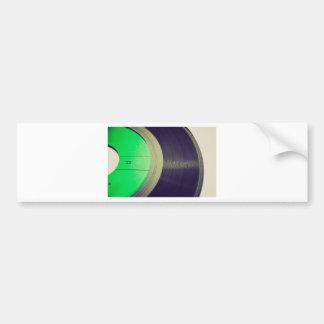 Vinyl record bumper sticker