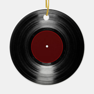 vinyl record ceramic ornament