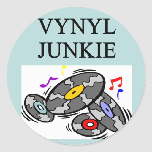 VINYL record collector Stickers