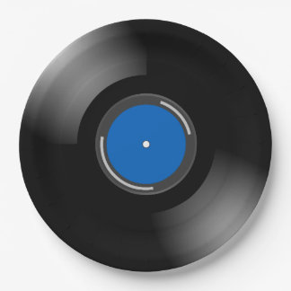 Vinyl Record Design Paper Plate