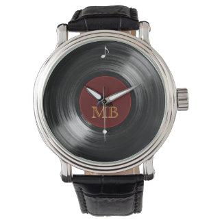 vinyl record hour wristwatches