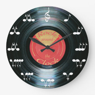 Vinyl Record Large Clock