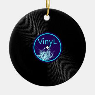 Vinyl Record LP Album 33 Ceramic Ornament