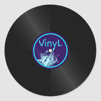 Vinyl Record LP Album 33 Round Sticker