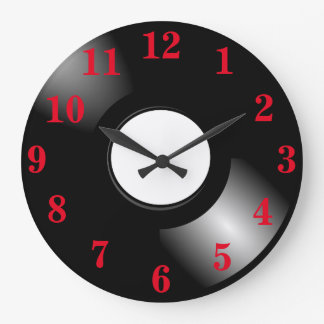 Vinyl Record LP Large Clock