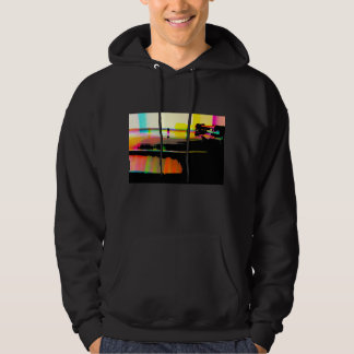 Vinyl record on turntable hooded pullovers