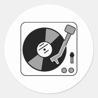 Vinyl Record Player Round Sticker