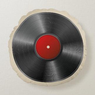 Vinyl Record Round Pillow