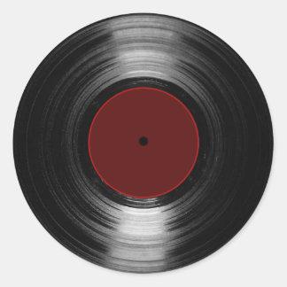 vinyl record round sticker