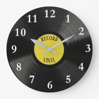 Vinyl Record Round Wall Clock