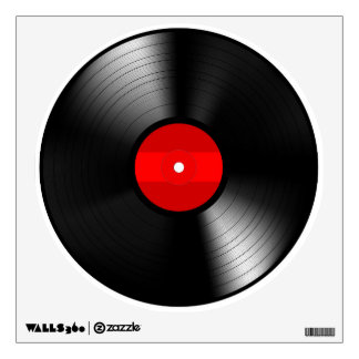 Vinyl Record Round Wall Decal