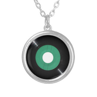 Vinyl record transparent PNG Silver Plated Necklace