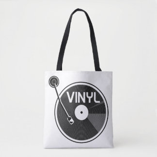 Vinyl Record Turntable Tote Bag