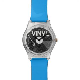 Vinyl Record Turntable Watch
