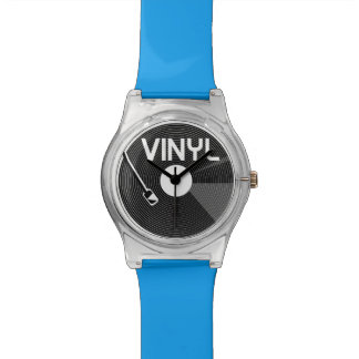 Vinyl Record Turntable Wristwatch