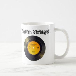 Vinyl Record Vintage Edit Text-Song Coffee Mug