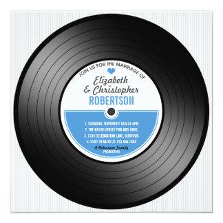 Vinyl Record Wedding Celebration Invitation