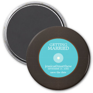 Vinyl Record Wedding Save the Date Magnet