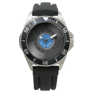 VINYL RECORD | with monogram or text Watches