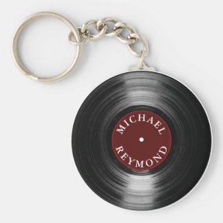 vinyl record with my name keychain