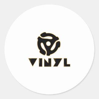 vinyl records classic round sticker