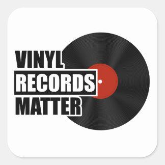 Vinyl Records Matter Square Square Sticker